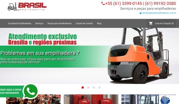 Sites focados em Site - Brasil Empilhadeiras