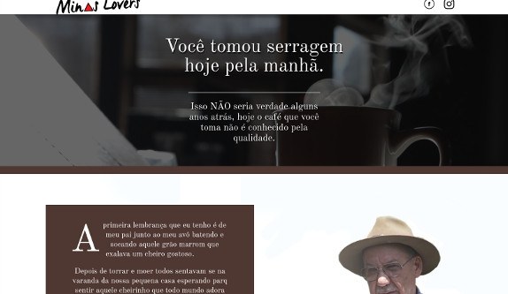 Sites focados em Hotsite - Café Mineiro