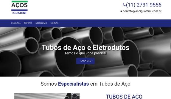 Sites focados em Site - Aços Iguatemi