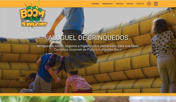 Sites focados em Site - Boom Brinquedos