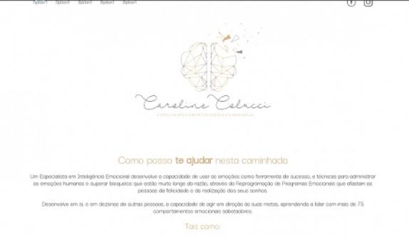 Sites focados em Site - Caroline Colucci